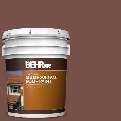 5 gal. #RP-24 Metro Brown Flat Multi-Surface Exterior Roof Paint