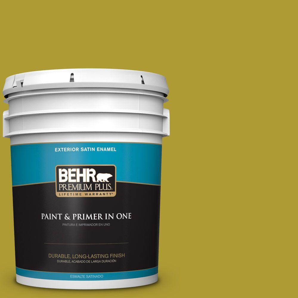5-gal. #P330-7 Luscious Lime Satin Enamel Exterior Paint