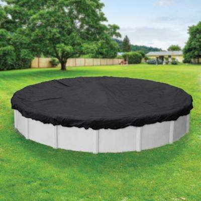 Mesh 28 ft. Pool Size Round Black Mesh Above Ground Winter Pool Cover