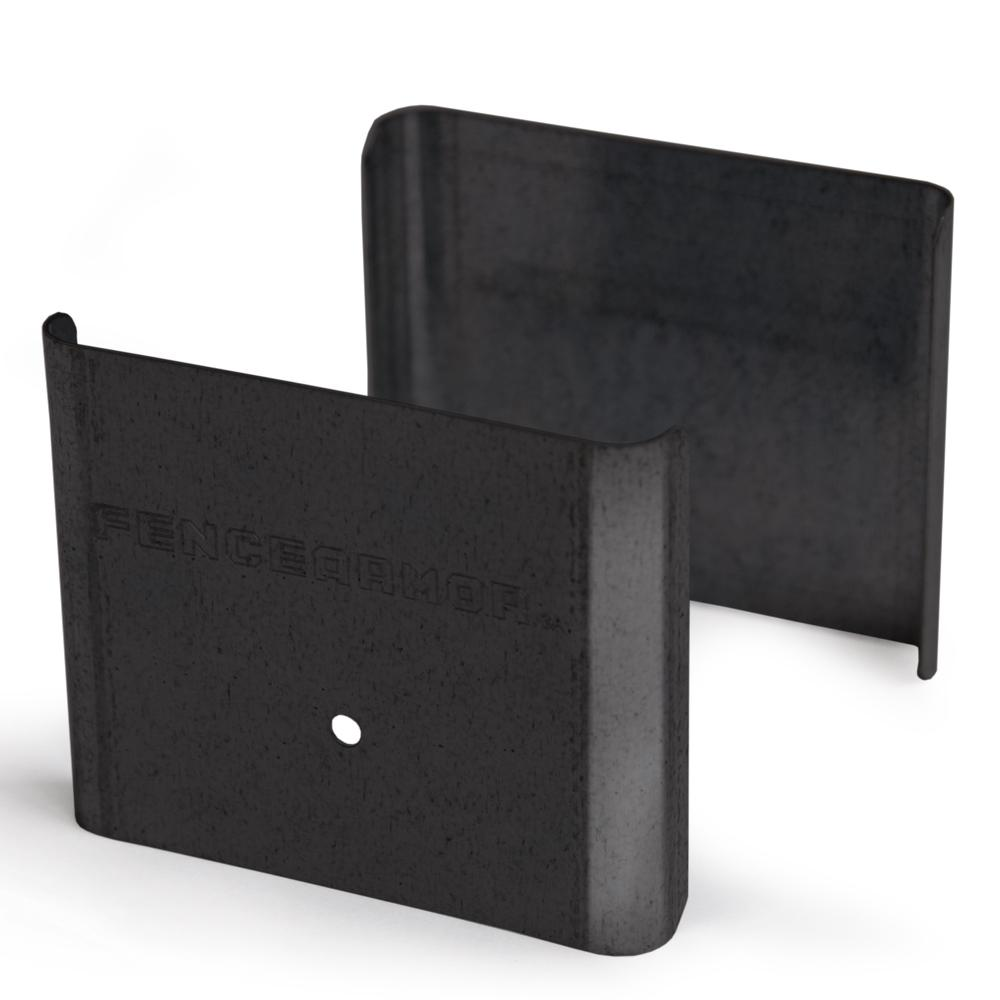Fence Armor Black Demi Fence Post Guard 3.5 In. L X 3 In