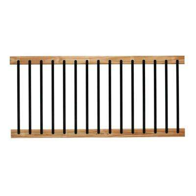 6 ft. Pressure-Treated Cedar-Tone Aluminum Solid Lightning Deck Railing Kit