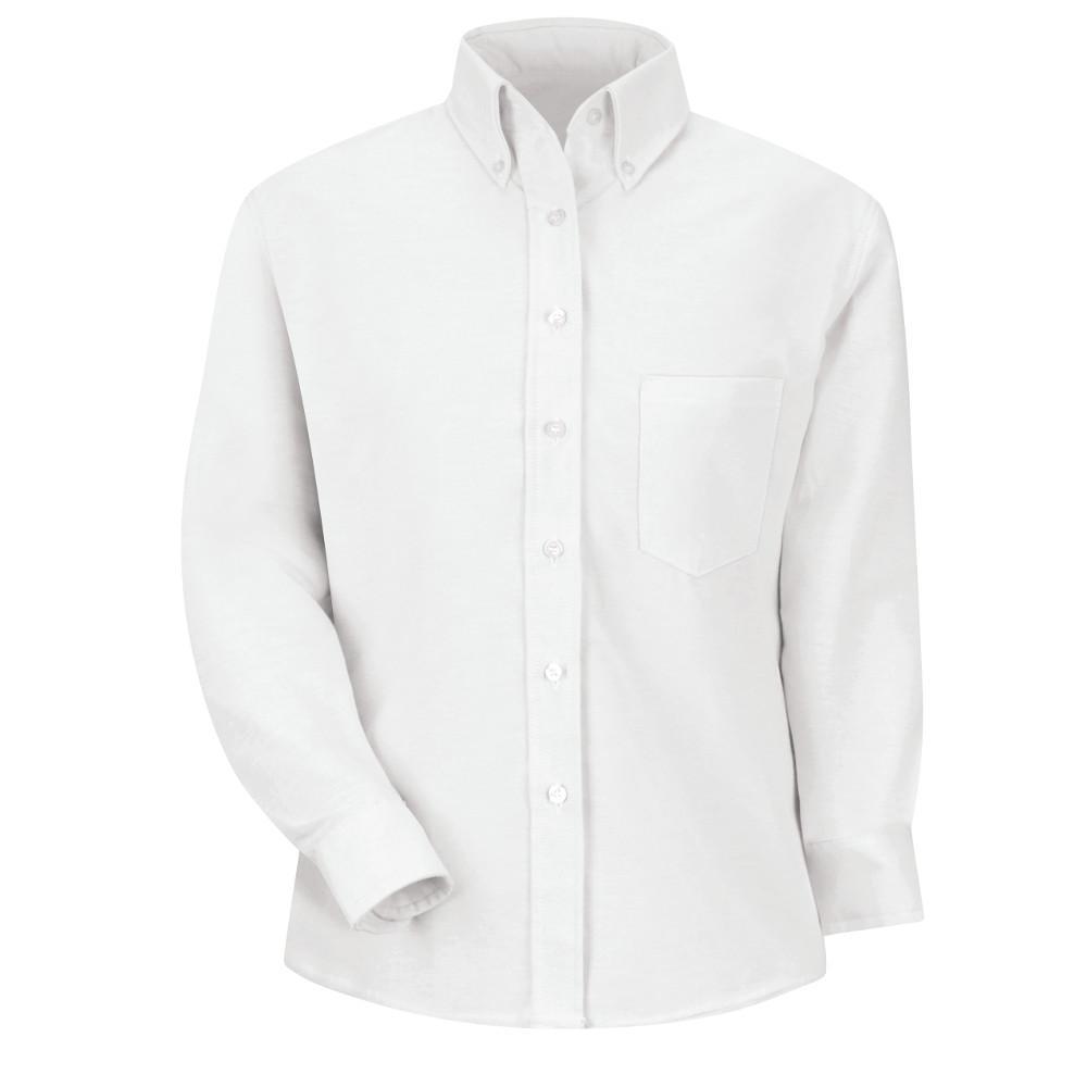 Red Kap Womens Size 16 White Executive Oxford Dress Shirt Sr71wh Rg
