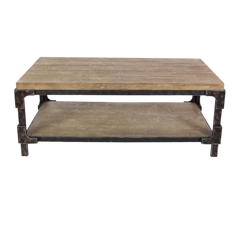 Litton Lane 2 Shelf Wooden Coffee Table