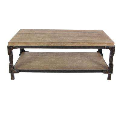 2-Shelf Wooden Coffee Table