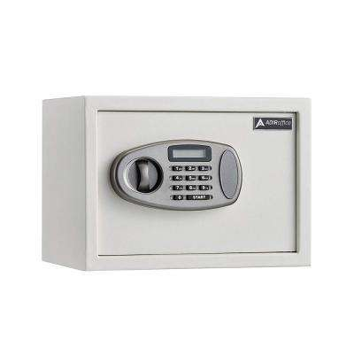 0.5 cu. ft. Steel Security Safe with Digital Lock, White