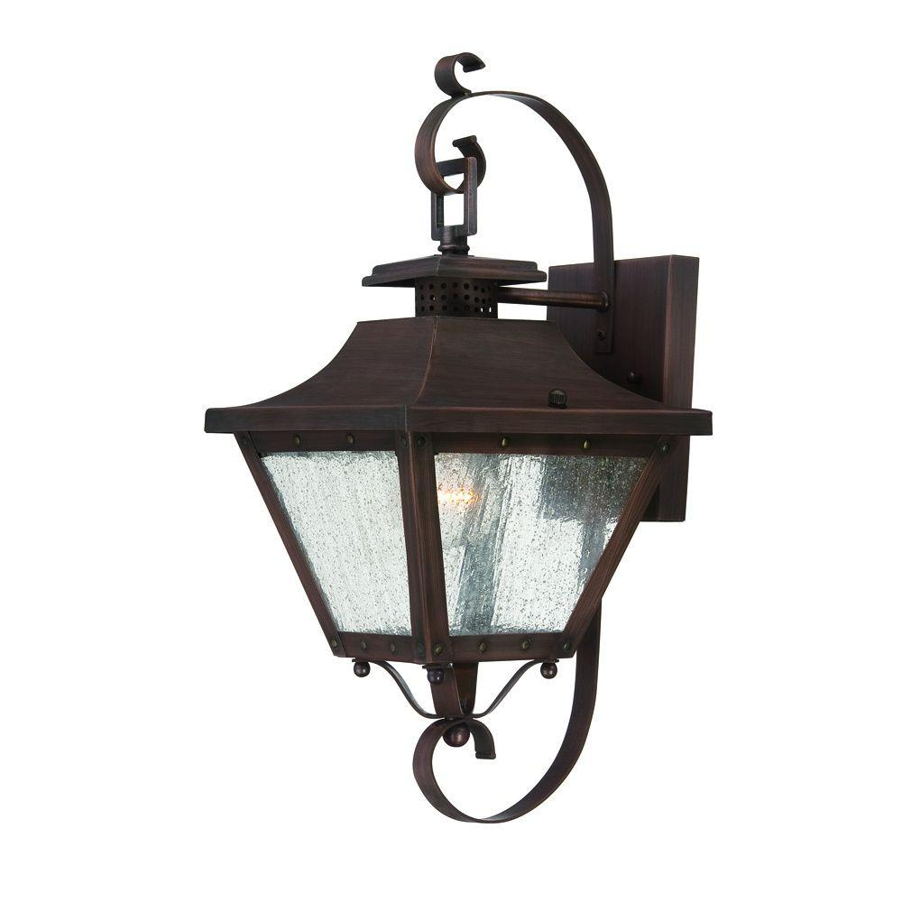 Acclaim Lighting Lafayette Collection 1-Light Copper Patina Outdoor Wall-Mount Light Fixture