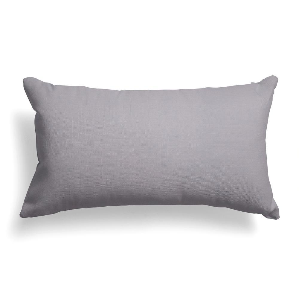 Baldwin Grey Rectangular Lumbar Outdoor Pillow