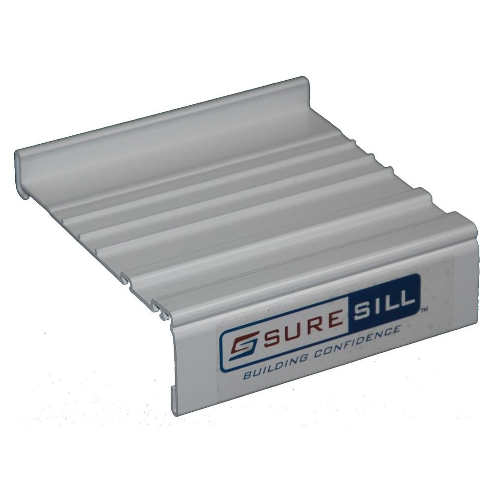 SureSill 4-1/8 in. White Sloped Sill Pan Extension Coupling Flashing