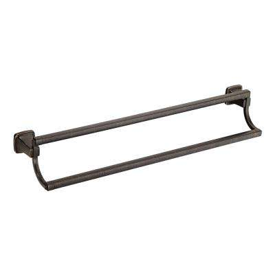 Townsend 24 in. Double Towel Bar in Legacy Bronze