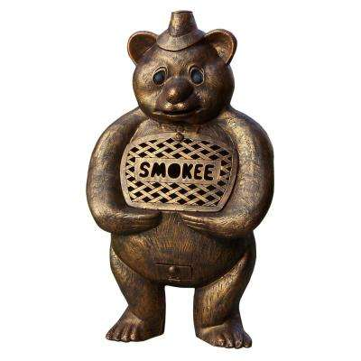 45 In. Smokee Bear Cast Aluminum Chimenea Sculpture