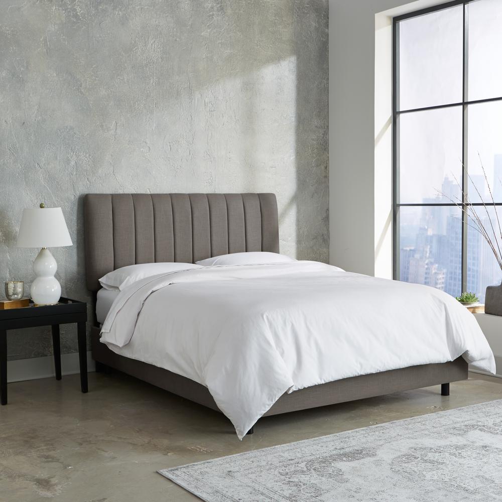 Linen Grey Twin Channel Seam Bed 3650BEDLNNGR
