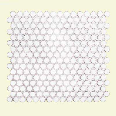 Antique Pearls 11-3/8 in. x 12-1/4 in. x 6 mm Porcelain Mosaic Tile