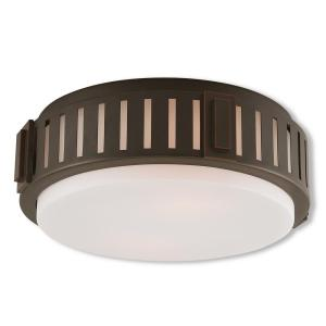 Portland 2-Light Olde Bronze Flush Mount