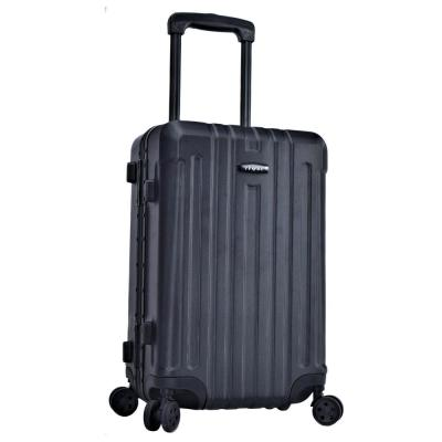 20 in. Black Hardside ABS Rolling Vertical Carry-on with Aluminum Frame and TSA Combination locks