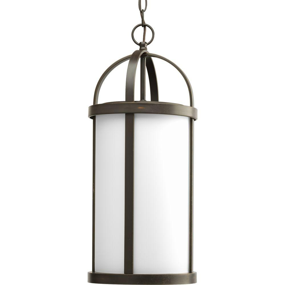 Progress Lighting Greetings Collection Antique Bronze 1-light Outdoor Hanging Lantern