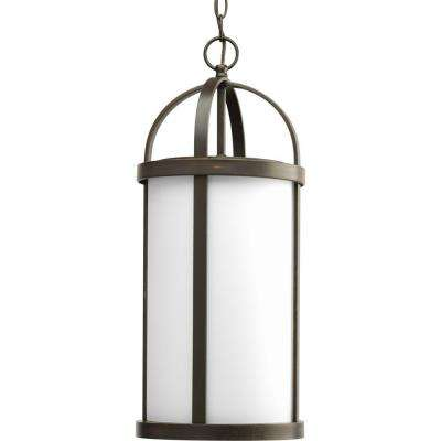 Greetings collection antique bronze 1 light outdoor hanging lantern