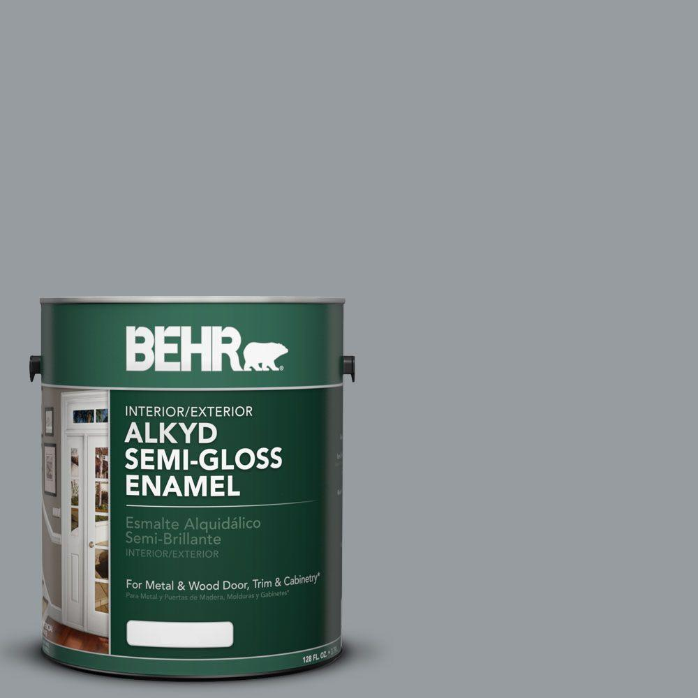1 gal. #AE-51 Coast Guard Gray Semi-Gloss Enamel Alkyd Interior/Exterior Paint