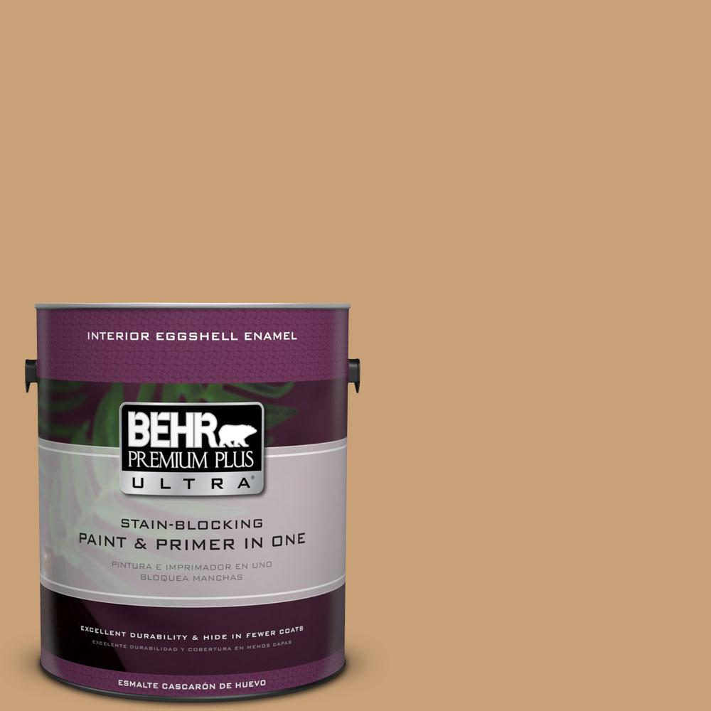 BEHR Premium Plus Ultra 1-gal. #BXC-70 Fresh Sawdust Eggshell Enamel Interior Paint
