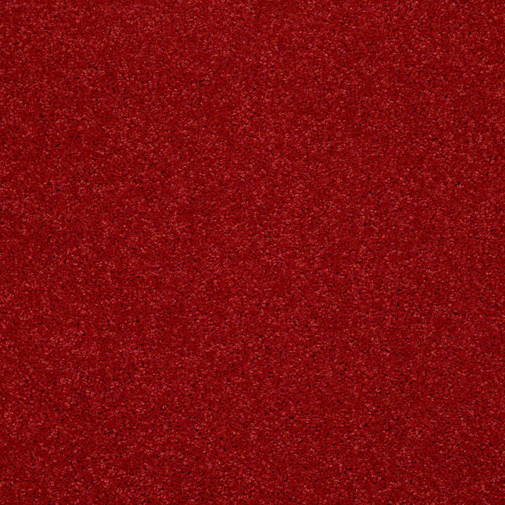TrafficMaster Watercolors I - Color Cherry Texture 12 ft. Carpet