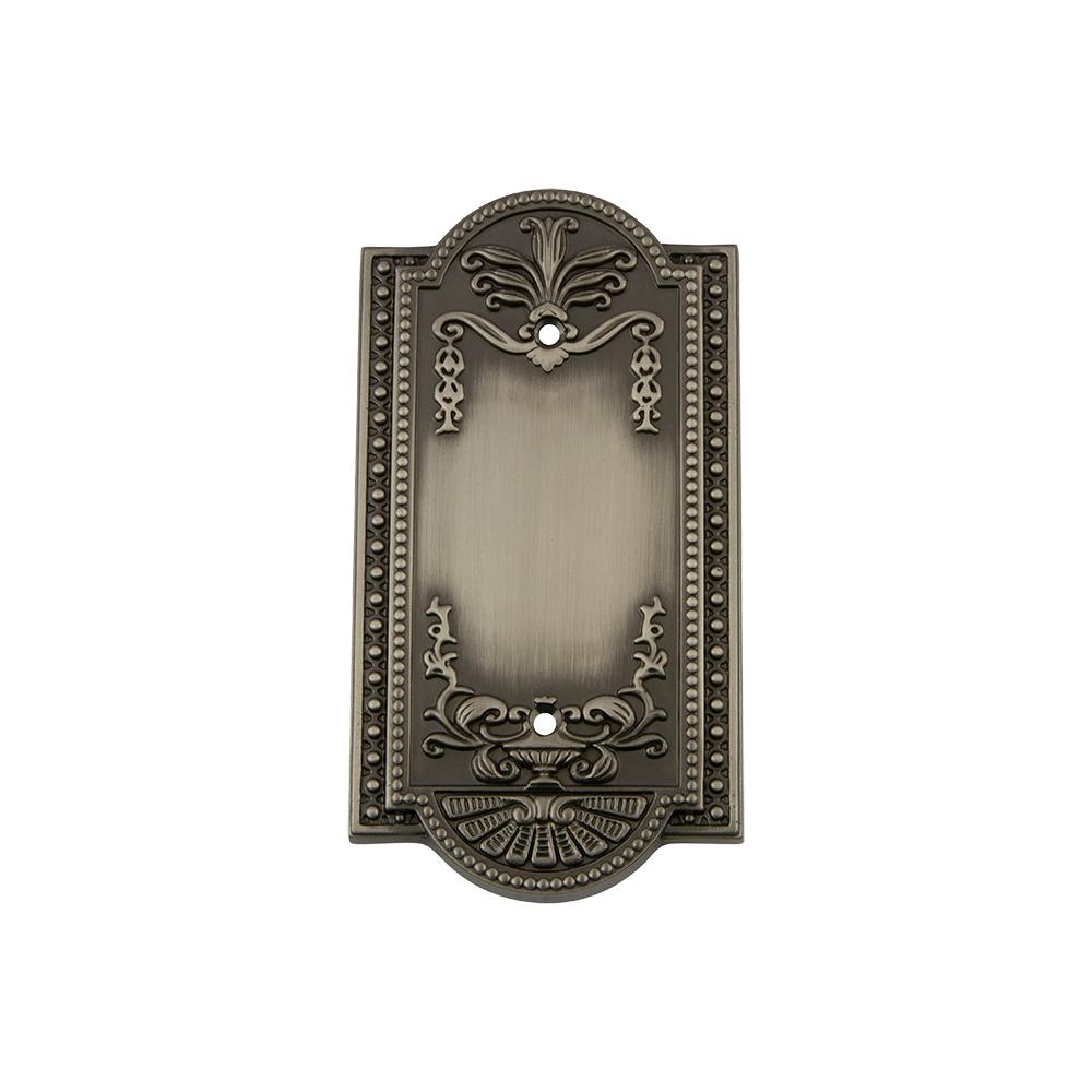 Meadows Switch Plate with Blank Cover in Antique Pewter