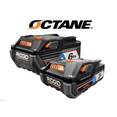 18-Volt OCTANE Bluetooth 3.0 Ah Battery and 6.0 Ah Battery