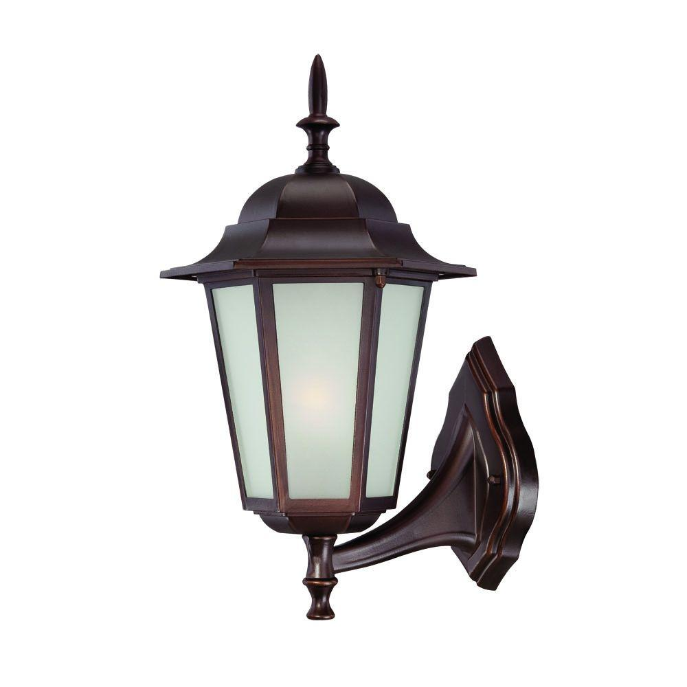 Acclaim Lighting Camelot Collection 1-Light Architectural Bronze Outdoor Wall-Mount Light Fixture