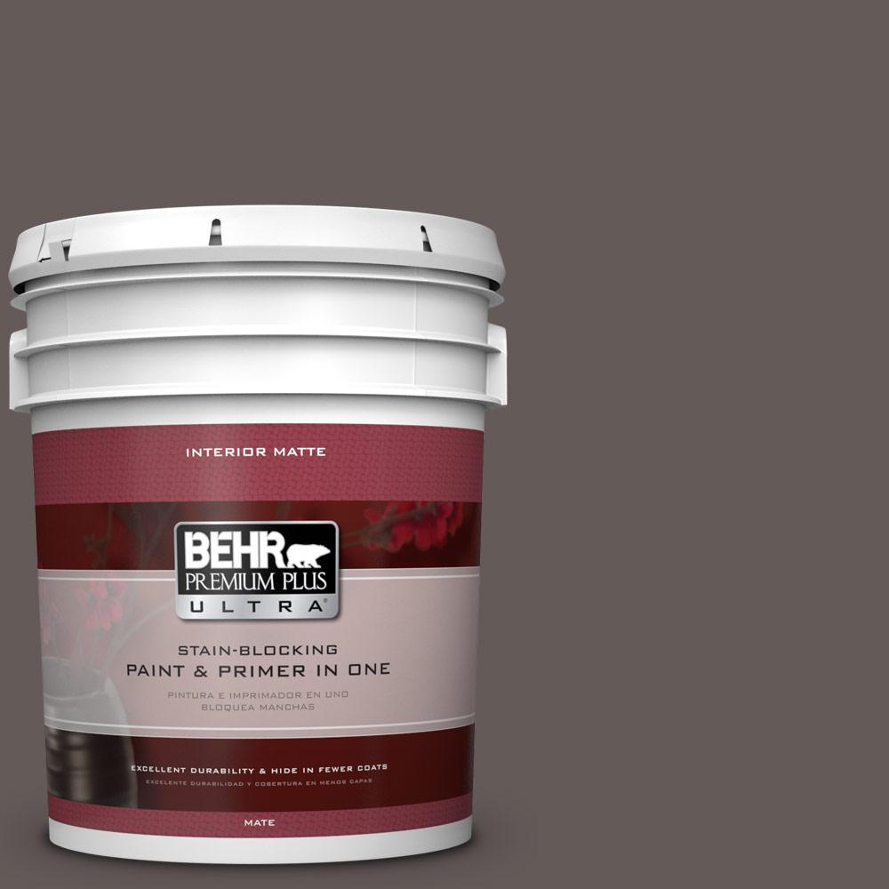BEHR Premium Plus Ultra 5 gal. #BXC-71 Wood Acres Matte Interior Paint
