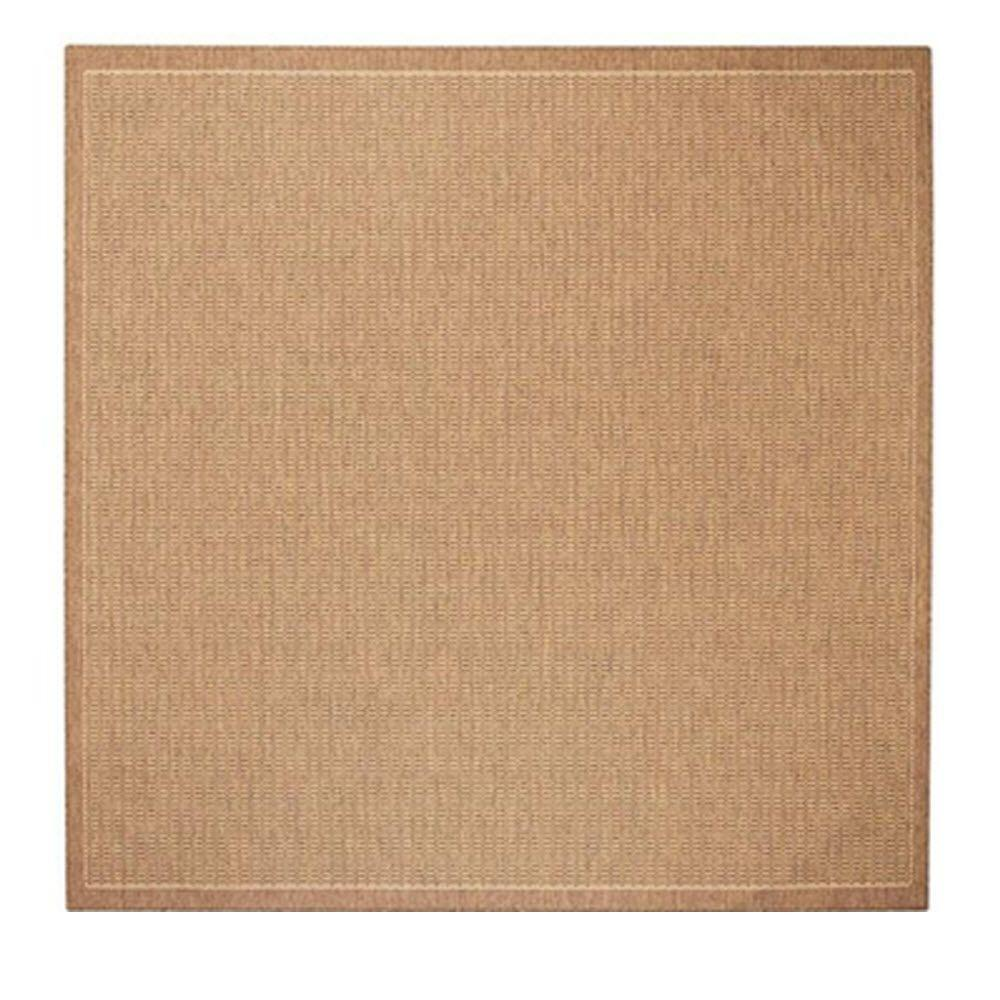 Home Decorators Collection Saddlestitch Cocoa Natural 8 Ft