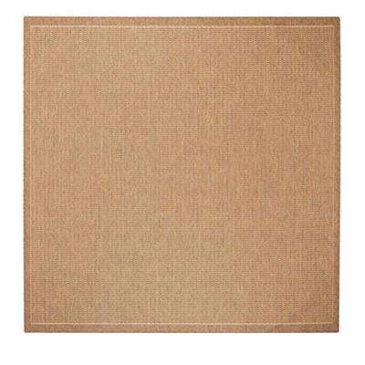 Saddlesch Cocoa Natural 8 Ft 6 In Square Area Rug