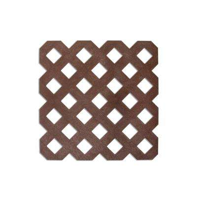0.125 in. x 48 in. x 8 ft. Mustang Brown Privacy Lattice (2-Pack)