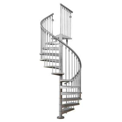 Eureka 47 in. Grey Spiral Stair Kit