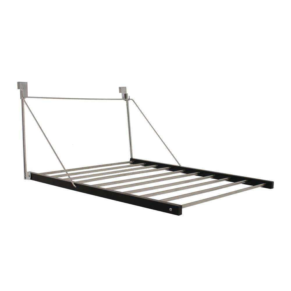Greenway 22.50 in. W x 26.20 in. H Stainless Steel Over the Door Drying Garment Rack