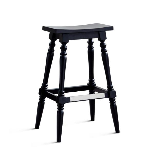 American Woodcrafters Yara 24 in. Black Backless Counter Stool B2-192-24W