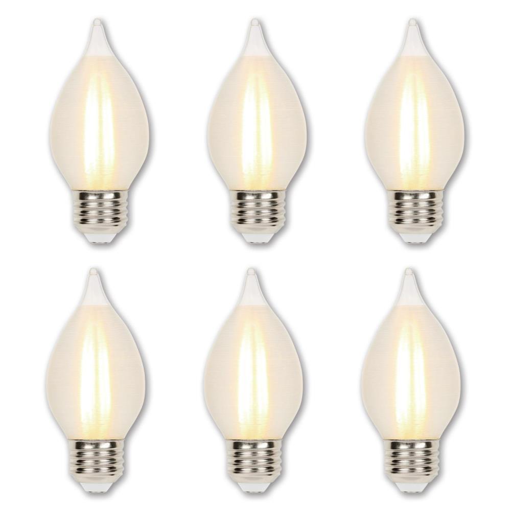 60-Watt Equivalent C15 Dimmable Glowescent Edison LED Light Bulb Soft White Light (6-Pack)