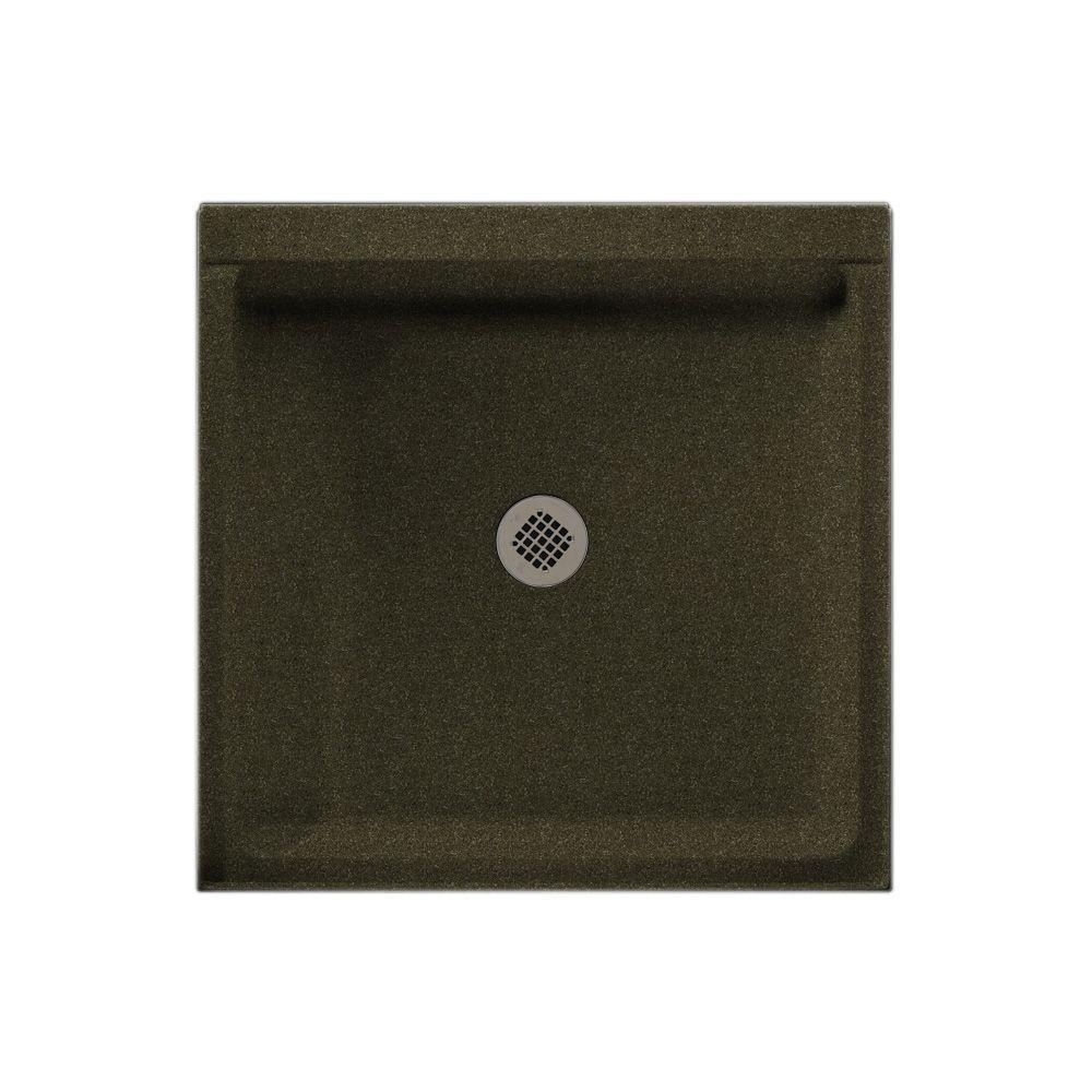 Swanstone 32 in. x 32 in. Single Threshold Shower Floor in Green Pasture-DISCONTINUED