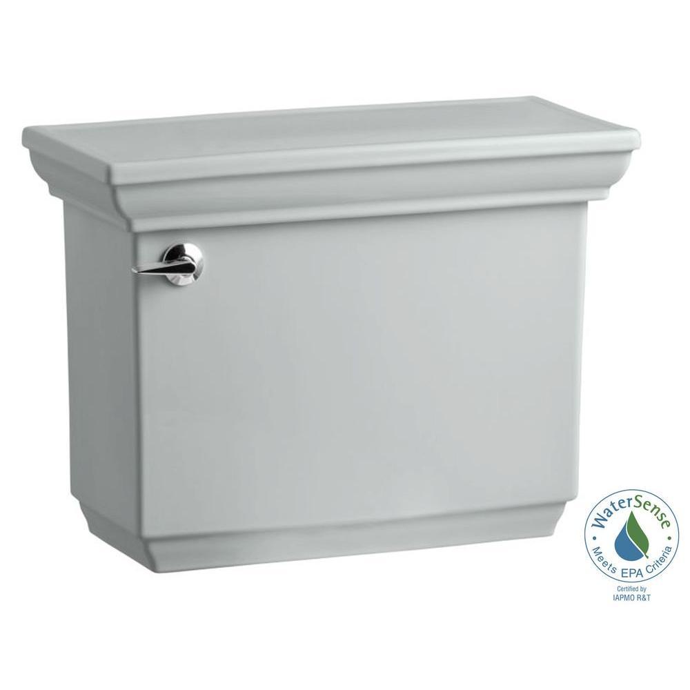 KOHLER Memoirs 1.28 GPF Single Flush Toilet Tank Only with AquaPiston Flush Technology in Ice Grey
