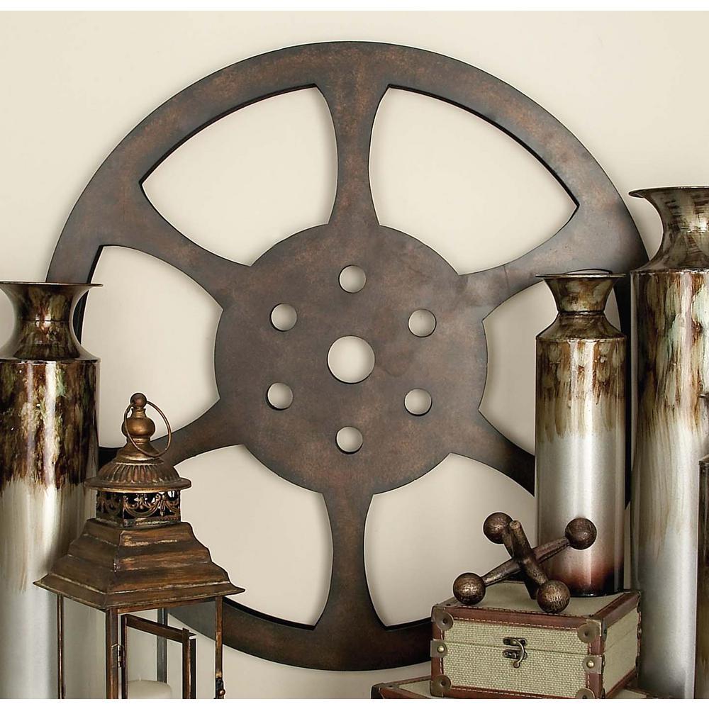 Litton Lane 32 In. Industrial Inspired Bronze Iron Movie