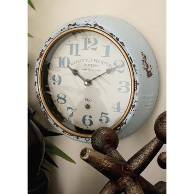 """2 Assorted 10 in. """"Bistrot des Pecheurs"""" and """"La Beaujolaise"""" Round Wall Clocks"""