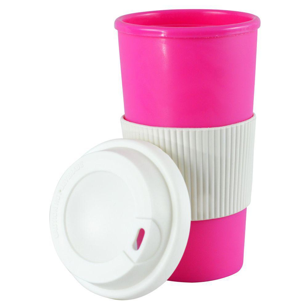 16 oz. Pink Thermal Travel Coffee Mug