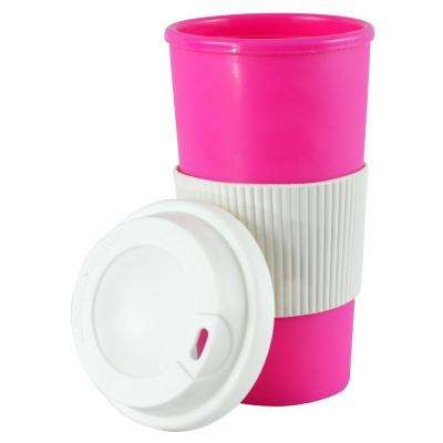 16 oz. Pink Thermal Travel Coffee Mug