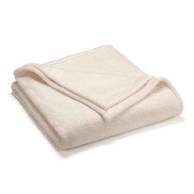 Sheared Mink Ivory Polyester Full/Queen Blanket