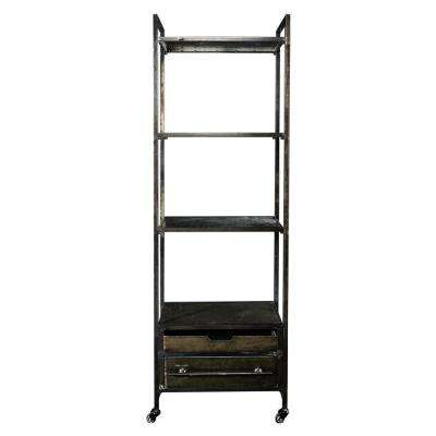 Cade Metal Four Tier Bookcase