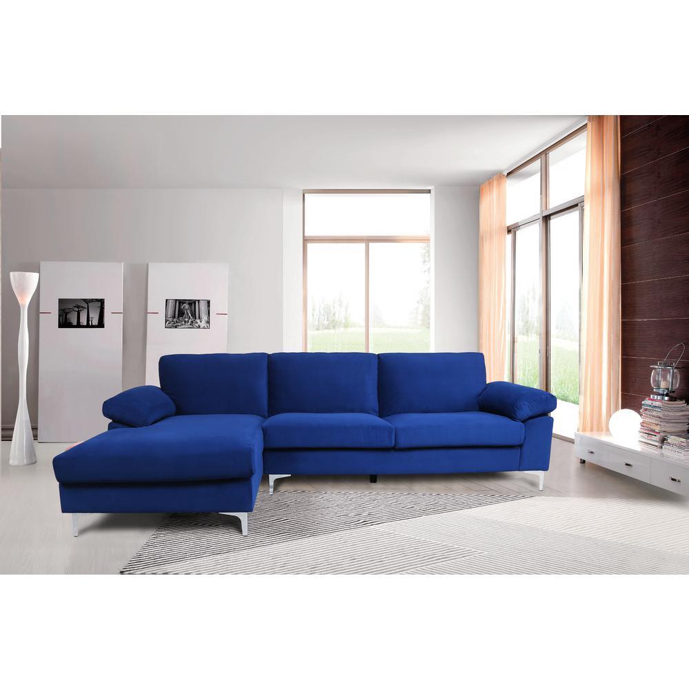 Swell Harper Bright Designs Modern Navy Blue Velvet 2 Piece Inzonedesignstudio Interior Chair Design Inzonedesignstudiocom