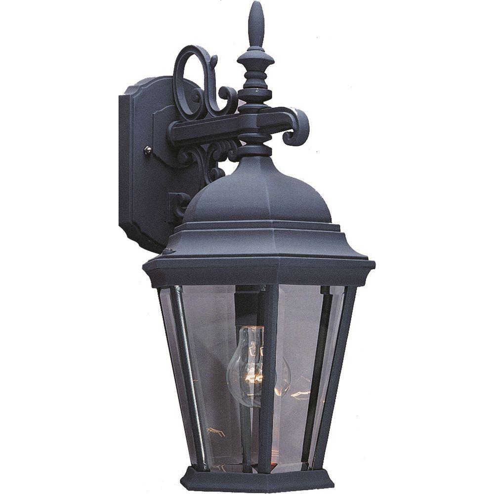 Volume Lighting 1-Light Black Outdoor Wall Sconce