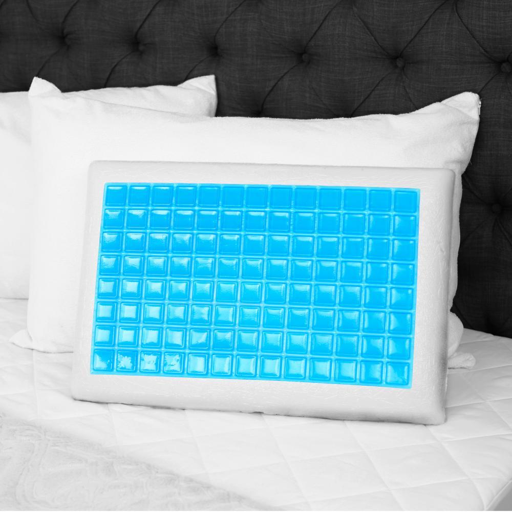 Furinno Angeland Reversible Gel Memory Foam Pillow, White