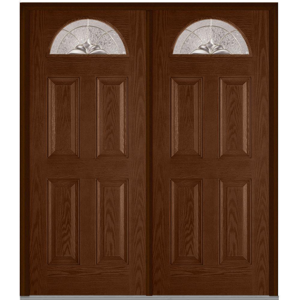 MMI Door 64 in. x 80 in. Heirloom Master Left-Hand 1/4 Lite 4 ...