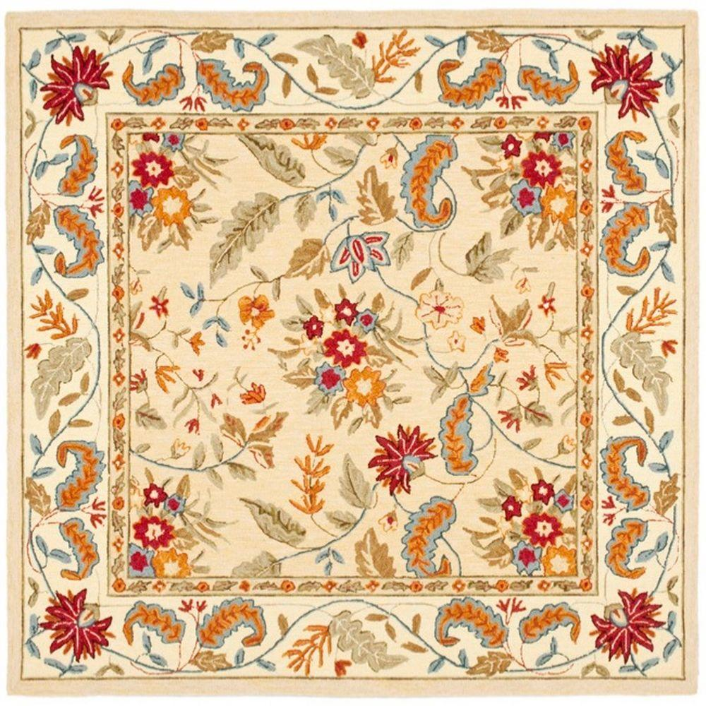 Chelsea Ivory 6 ft. x 6 ft. Square Area Rug