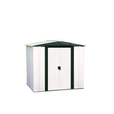 Hamlet 6 ft. W x 5 ft. D 2-Tone White Galvanized Metal Storage Shed