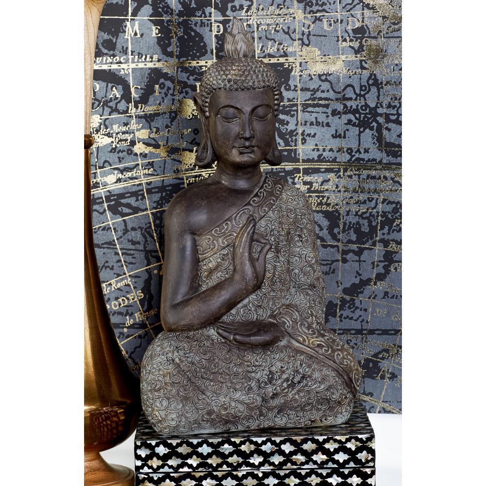Polystone Meditating Thai Buddha Sculpture