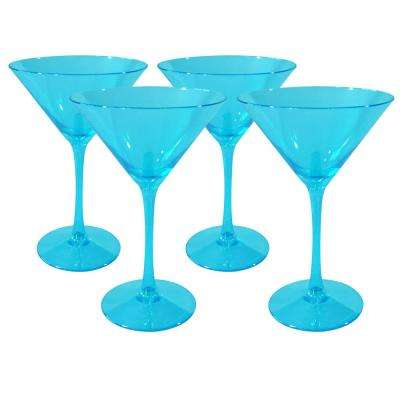 8 oz. Turquoise Martini Glasses (Set of 4)